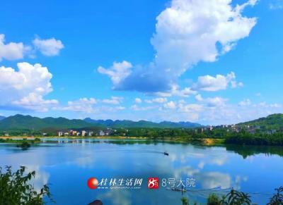 白云眷恋岳湾塘,2019年7月30日摄