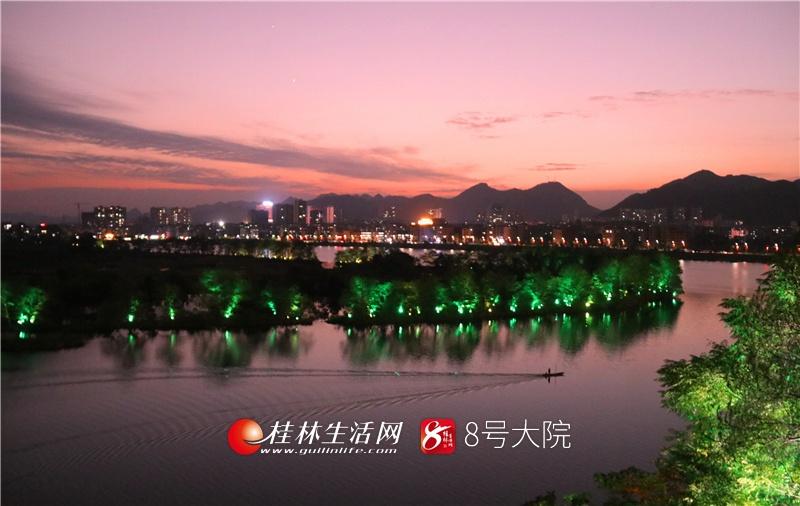 桂林全州:湘江晚霞美