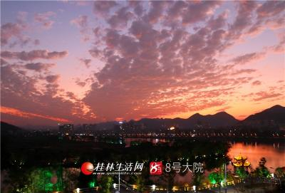 365体育官网全州:湘江晚霞美