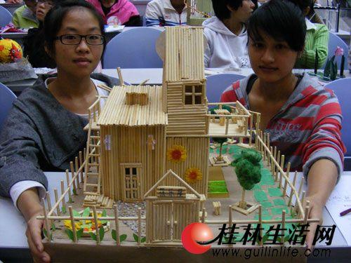 筷子做简单房子步骤图解
