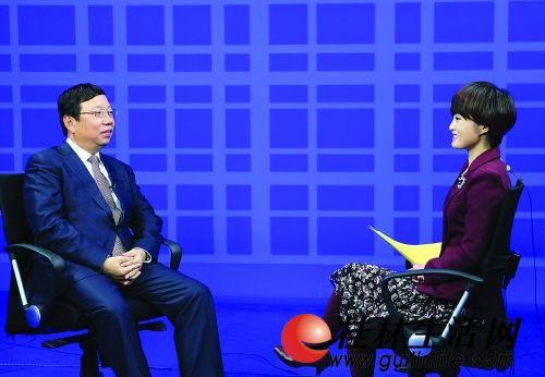 卫视资讯频道《新闻今日谈》节目主持人梁茵专访.-赵乐秦 桂林旅