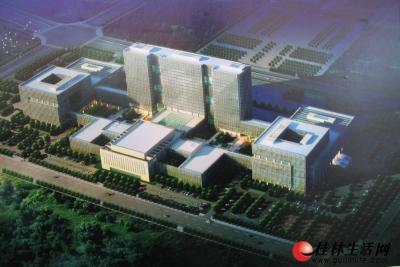 图为创业大厦的鸟瞰图