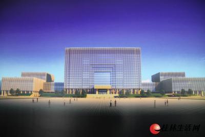 图为建成后的创业大厦效果图