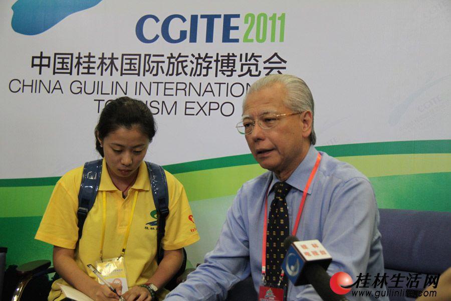 新加坡会议与展览行业协会会长廖俊生,接受媒体专访。
