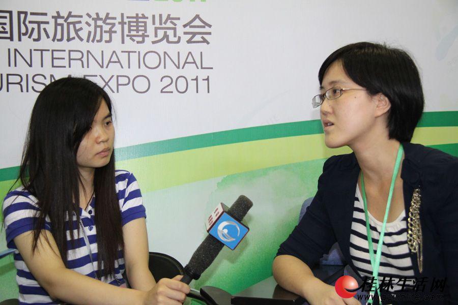 荷兰国家旅游会议促进局北京代表处市场专员卫辰,接受媒体专访。