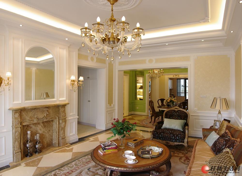 法式样板间-客厅