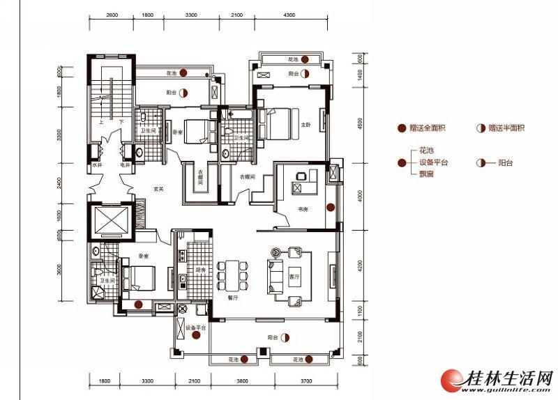 安厦漓江源著14#楼201-701F2户型