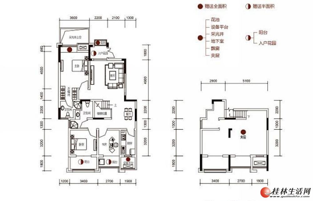 安厦漓江源著15#楼二单元、三单元201A1户型