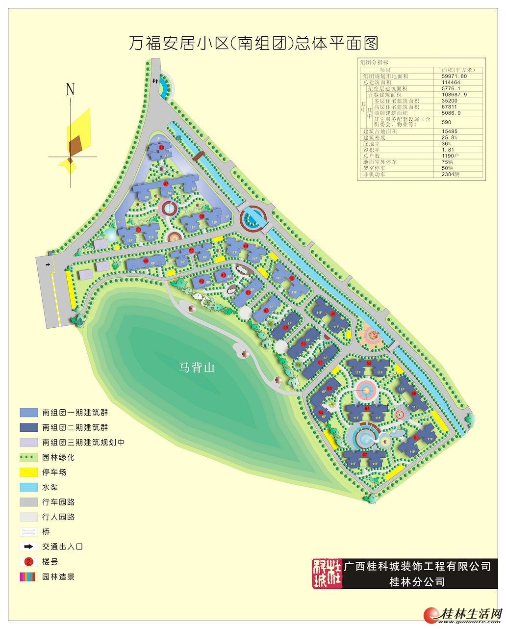 万福安居小区(南组团)总体平面图