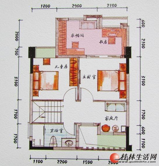 4#双院里B1二层装修后平面图