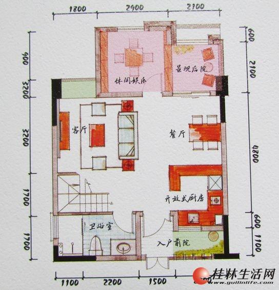 4#双院里B1一层装修后平面图