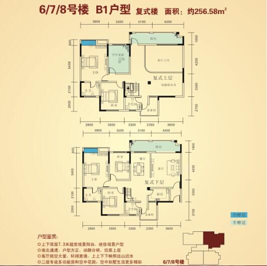 8号楼B1户型 复式楼