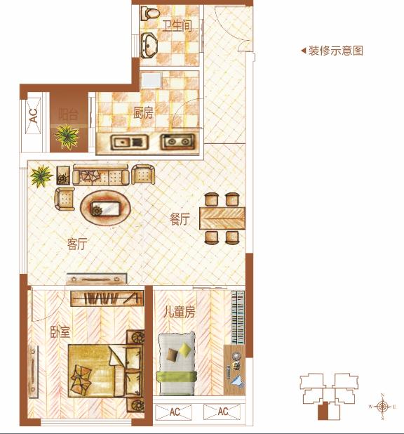 B10-4两房两厅一卫