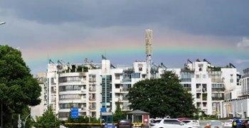 桂林人,刚刚,你见到彩虹了吗?