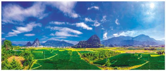 灌阳洞井:生态种植基地 田园风光秀美