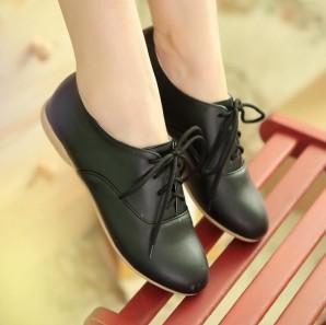学院甜美系带单鞋四季鞋